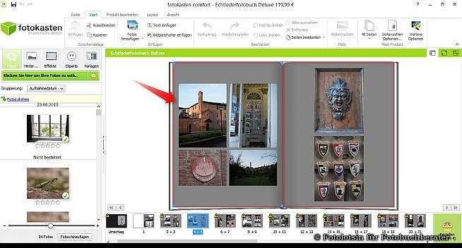 fotokasten Fotobücher Layout Vorschlag