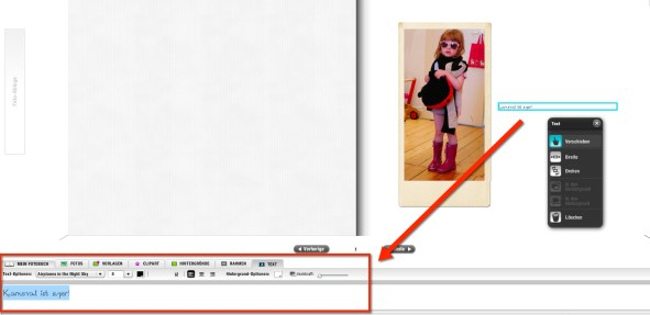fotopuzzle Textformatierung