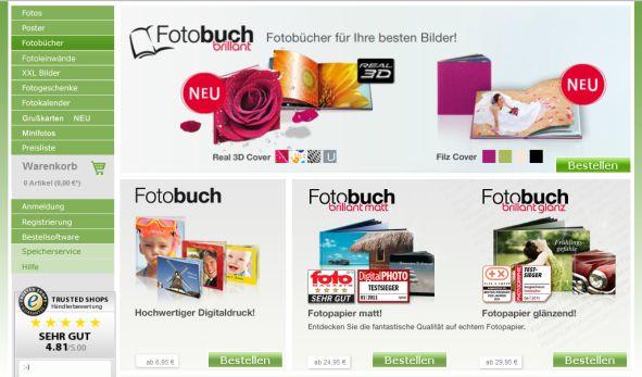 fujidirekt Fotobücher Überblick