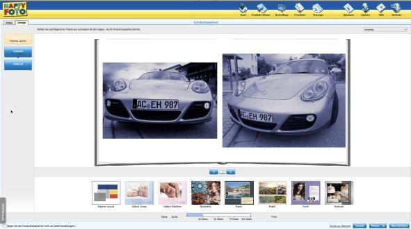Fotobuch happyfoto assistent design
