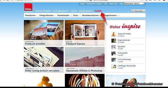 ifolor online Magazin Inspire