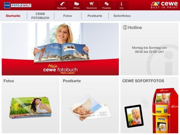 Cewe App verschiedene Produkte