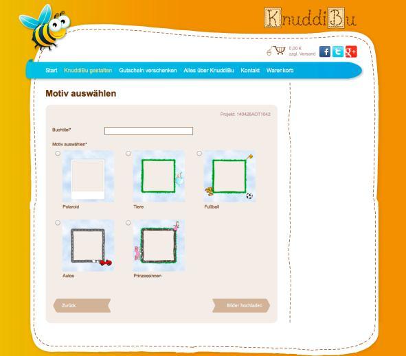 knuddibu Fotobuch website designs