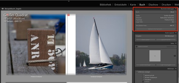 Lightroom Fotobuch Typ