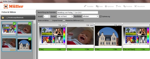 Müller Foto Bestellsoftware