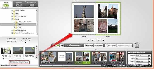 myphotobook Fotobuch Assistent Vorschlag