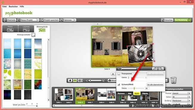 myphotobook Fotobuch Effekte