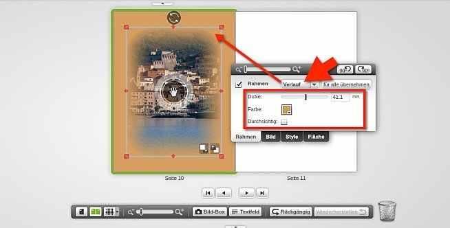 myphotobook transparenz Rahmen