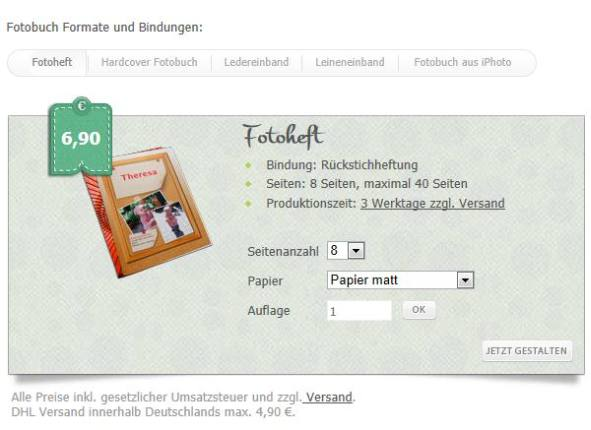 photographerbook Fotobuch Formate und Bindungen