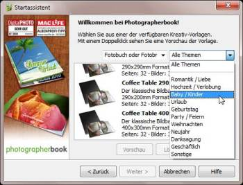 photographerbook Startassistent