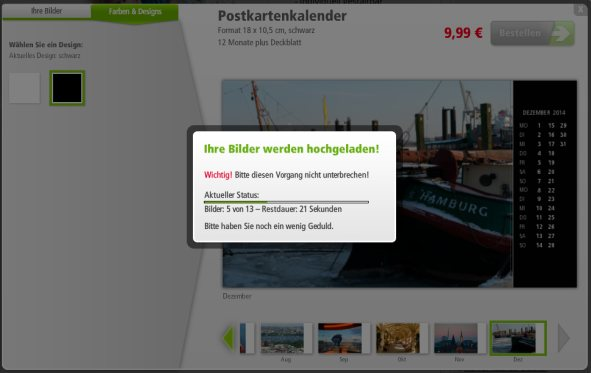 posterXXL Pestellprozess Upload
