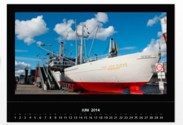 posterXXL Kalenderergebnis digitale Vorlage