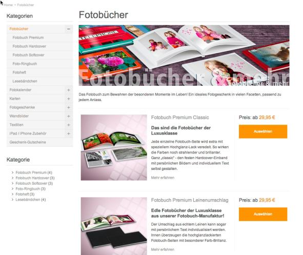 Fotobuch printeria Website