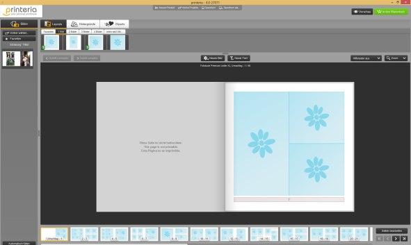 printeria Fotobuch Editor