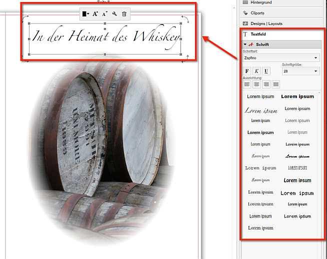 Saal Digital Fotobuch Textformatierung