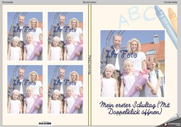 Schulanfang Fotobuch Vorlage MyMoments