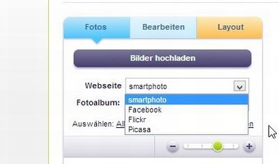 smartphoto Fotokalender Fotoupload