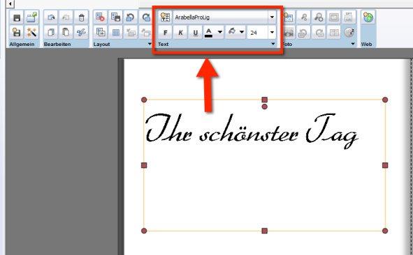 snapfish Textformatierung