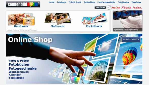Sonnenbild Website Start